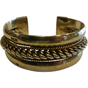 Heavy Hallmarked Sterling Silver Cuff Bracelet