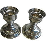 Vintage N.S. Co. Weighted Sterling Silver Candle Sticks