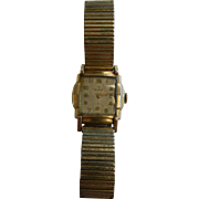 Vintage Helbros Gold-Tone Wrist Watch w/ Stretch Band