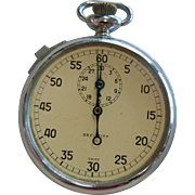 Vintage Security Swiss Pocket Stop Watch