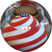 Glass Eye Studio Glass Paperweight - American Flag