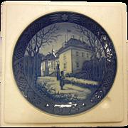 "Vintage 1975 Royal Copenhagen Porcelain ""Marselisborg Palace - The Queen's Christmas Residence"""