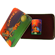 1993 CAMEL Zippo Lighter w/ Matching Gift Box