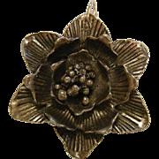 Modernist Sterling Silver Flower Pendant