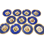 Vintage Porcelain Meissen Plates - Set of 11