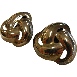 Vintage TF-40 Mexico Sterling Silver Earrings