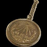 1922 Estados Unidos Mexicanos 720 Silver Coin Keychain