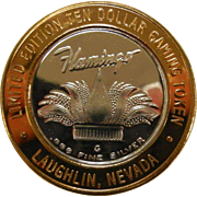 .999 Fine Silver Limited Edition Ten Dollar Gaming Token for Flamingo Casino