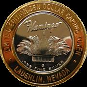 .999 Fine Silver Limited Edition Ten Dollar Gaming Token for Flamingo Casino