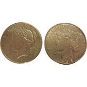 1925 S & 1927 Plain Silver Liberty Dollars