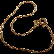 """Fine 14K Gold Twist Bracelet- 7"""""""