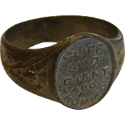 "Vintage Carnival Souvenir Ring ""Cliff Giant Thompson"""