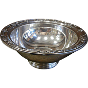 Vintage Wild Rose International Sterling Silver Bowl