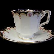 Vintage Queen's Fine Bone China Tea Cup & Saucer Set