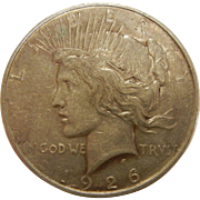 1926 D Peace Dollar Coin