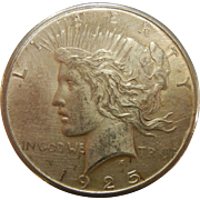1925 Philly Peace Dollar Coin