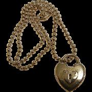 Tiffany & Company Sterling Silver Heart Lock Pendant Necklace