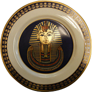 "Vintage Limited Edition Porcelain Plate by Gorham ""The Mask of Tutankhamun"""