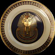 "Vintage Limited Edition Porcelain Plate by Gorham ""The Mask of Tutankhamun"""