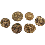 Five Ancient Roman Empire Copper Coins