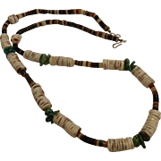 Vintage Turquoise & Shell Bead Necklace