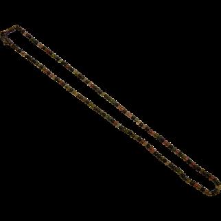 Tiny Gemstone Bead Necklace