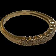 Fine 10K White Gold & Diamond Ring Signed JX