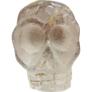 Carved Natural Quartz Pocket Skull