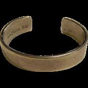 Signed Sterling Silver Cuff Bracelet by Darin Bill