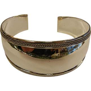 Fine Polished Sterling Silver Cuff Bracelet