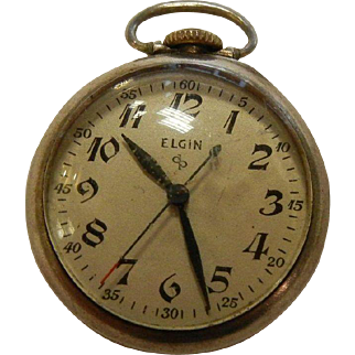 Vintage Sterling Silver Elgin National Mini Pocket Watch