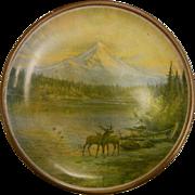 1912 Official Souvenir Plaque from Portland, Oregon - 48th Annual Grand Lodge Reunion