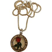 "Fine Sterling Silver ""City of Roses"" Pendant w/ 16"" Chain"