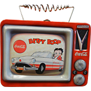 VANDOR Coca-Cola Tin Betty Boop Lunch Box