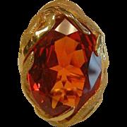 Unique 14K Gold Ring w/ Padparadsha Sapphire