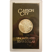Carson City Uncirculated Silver Dollar in Government Black Pack