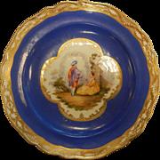 Set of 5 Vintage Meissen Porcelain Plates