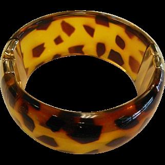 Stylish Leopard Print Plastic Clamper Bracelet