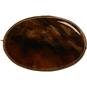 Vintage Natural Petrified Wood Brooch