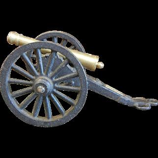 Vintage Miniature Cast Iron/Brass Cannon - Fort Pulaski, GA