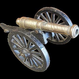Vintage Miniature Brass/Cast Iron Cannon