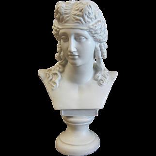 Vintage White Porcelain Bust Figurine