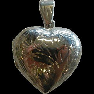 Fine Sterling Silver Heart Locket