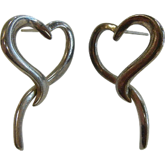 Fine Sterling Silver Heart Earrings