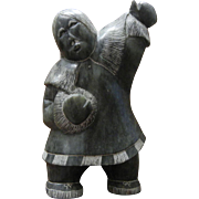 Vintage Alaskan Eskimo Sculpture Signed T. Ekak