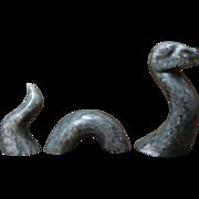 Vintage Alaskan Art Sculpture Loch Ness Monster - Signed Daniel Cline