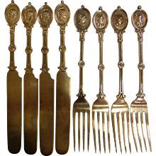 Antique Ball Black & Co. Sterling Silver Forks & Knives Patented 1862