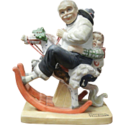 Vintage 1980 Norman Rockwell Porcelain Figurine - Gramps at the Reins
