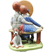 Vintage 1980 Norman Rockwell Porcelain Figurine - Young Love