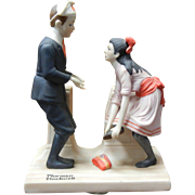 Vintage 1980 Norman Rockwell Porcelain Figurine - First Dance